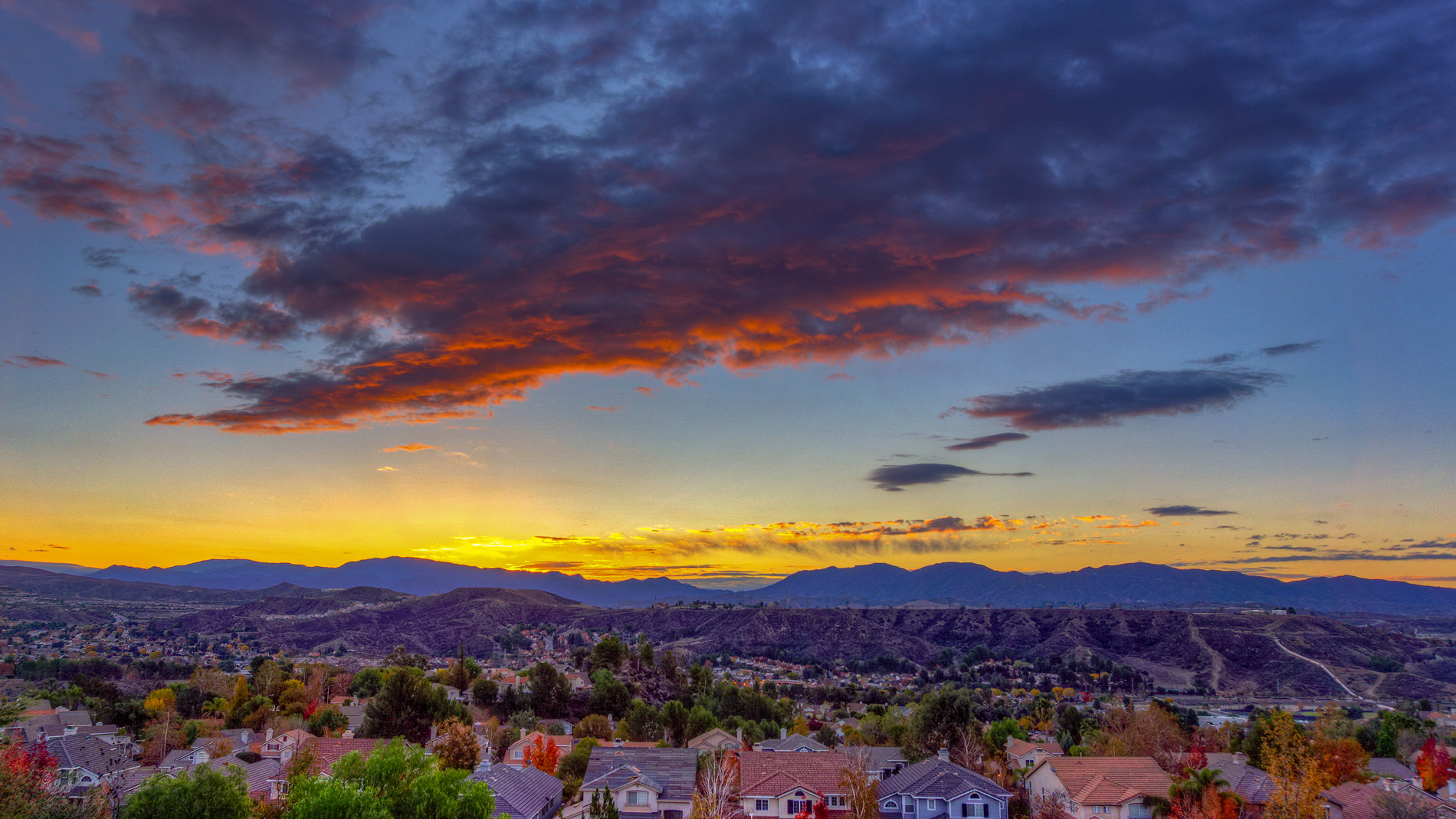 santa clarita sunset