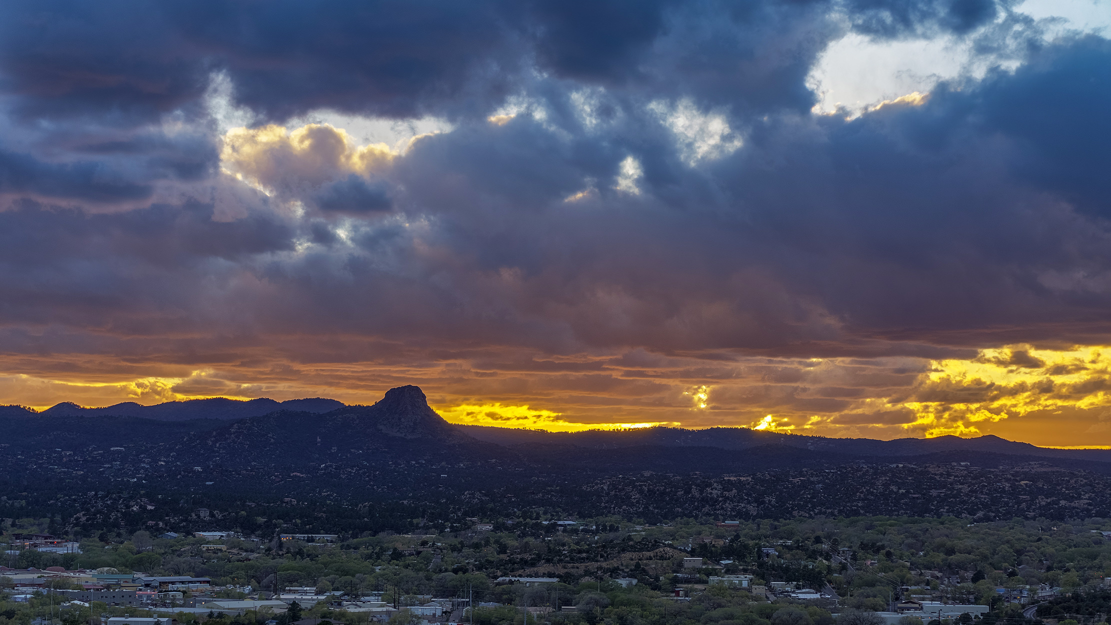 thumb butte at sunset