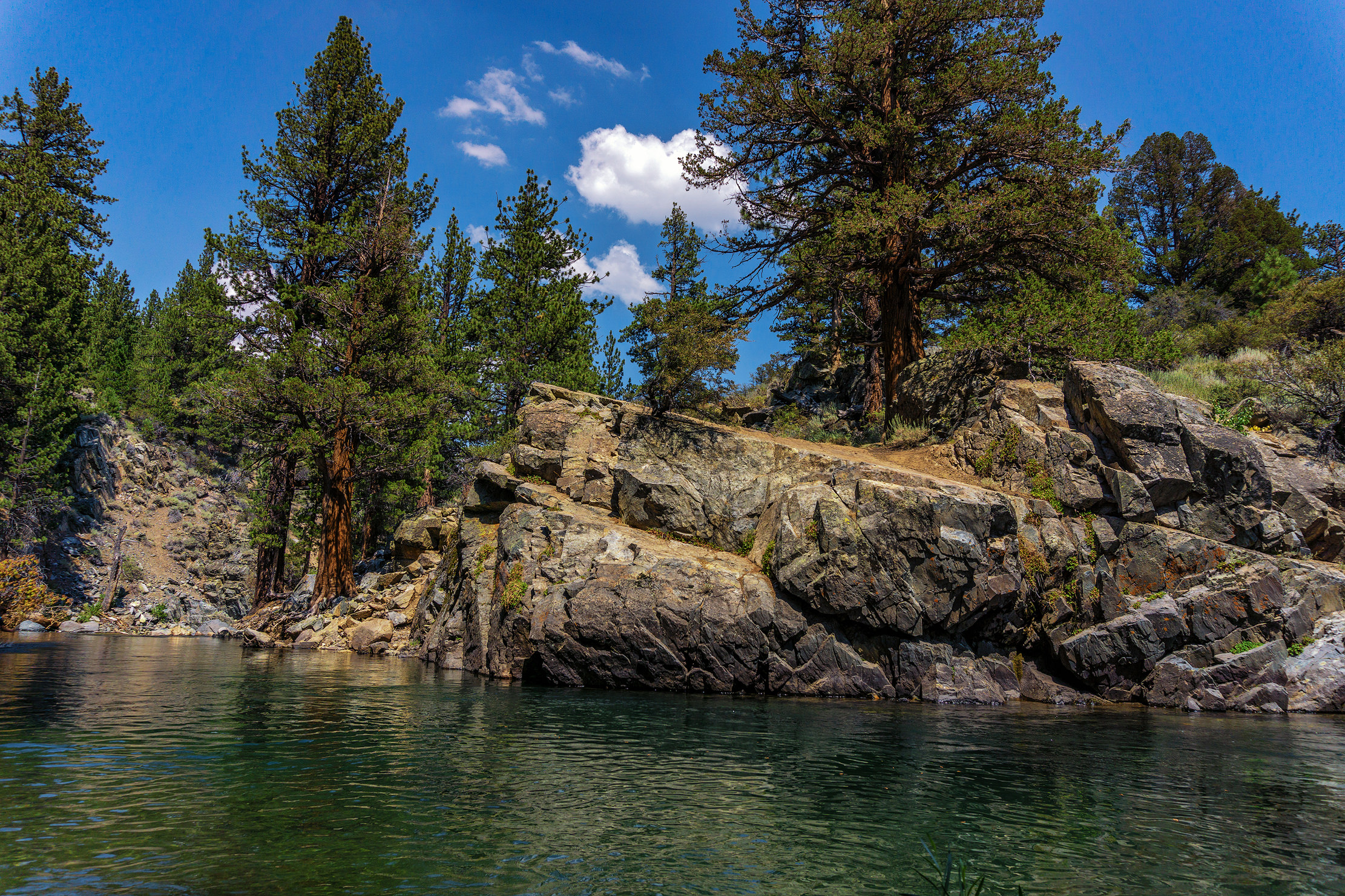 swimming hole - leavitt meadows campground