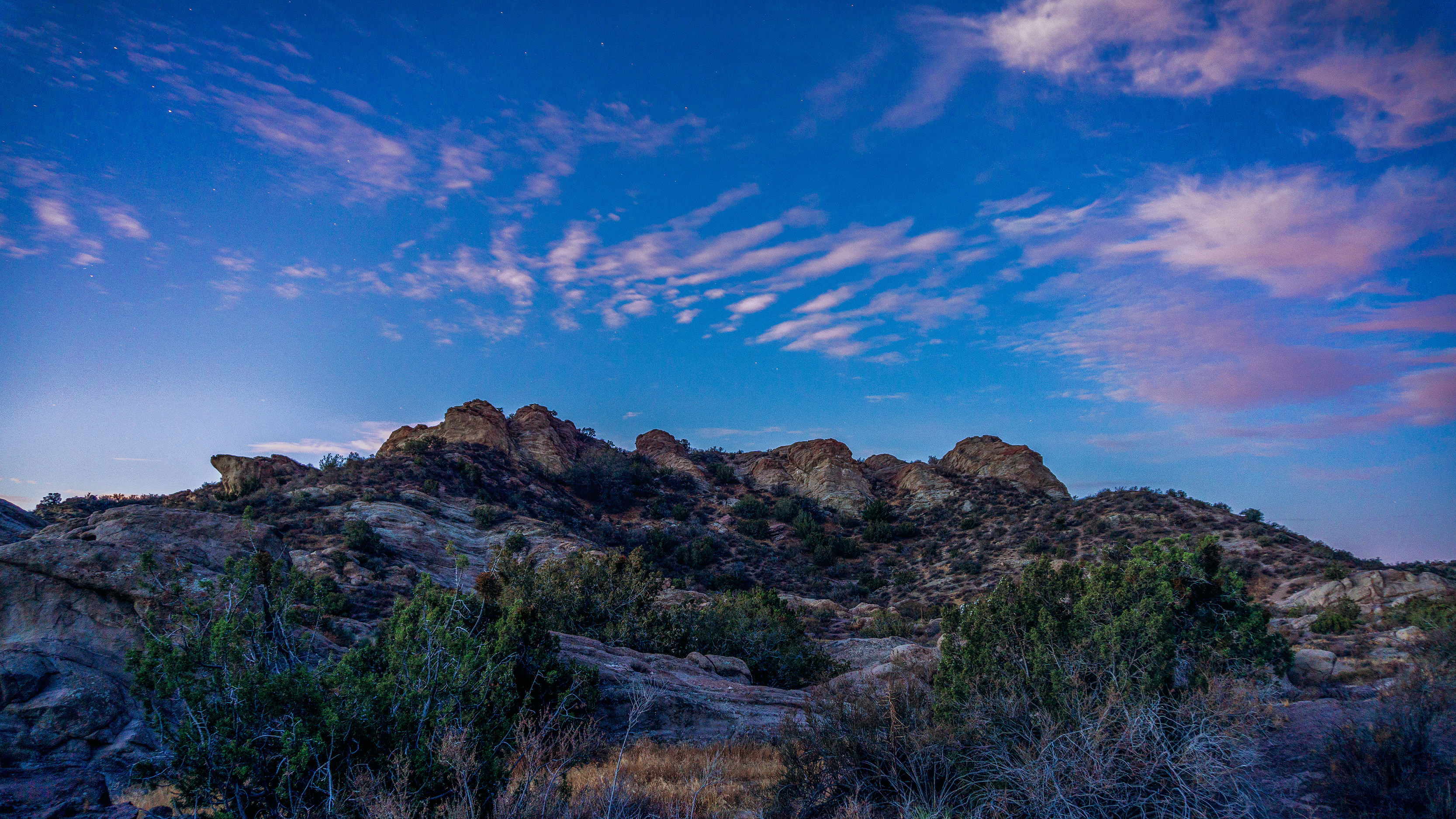 vasquez rocks twilight